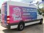 Partial Sprinter Van Wrap for Tropical Pools