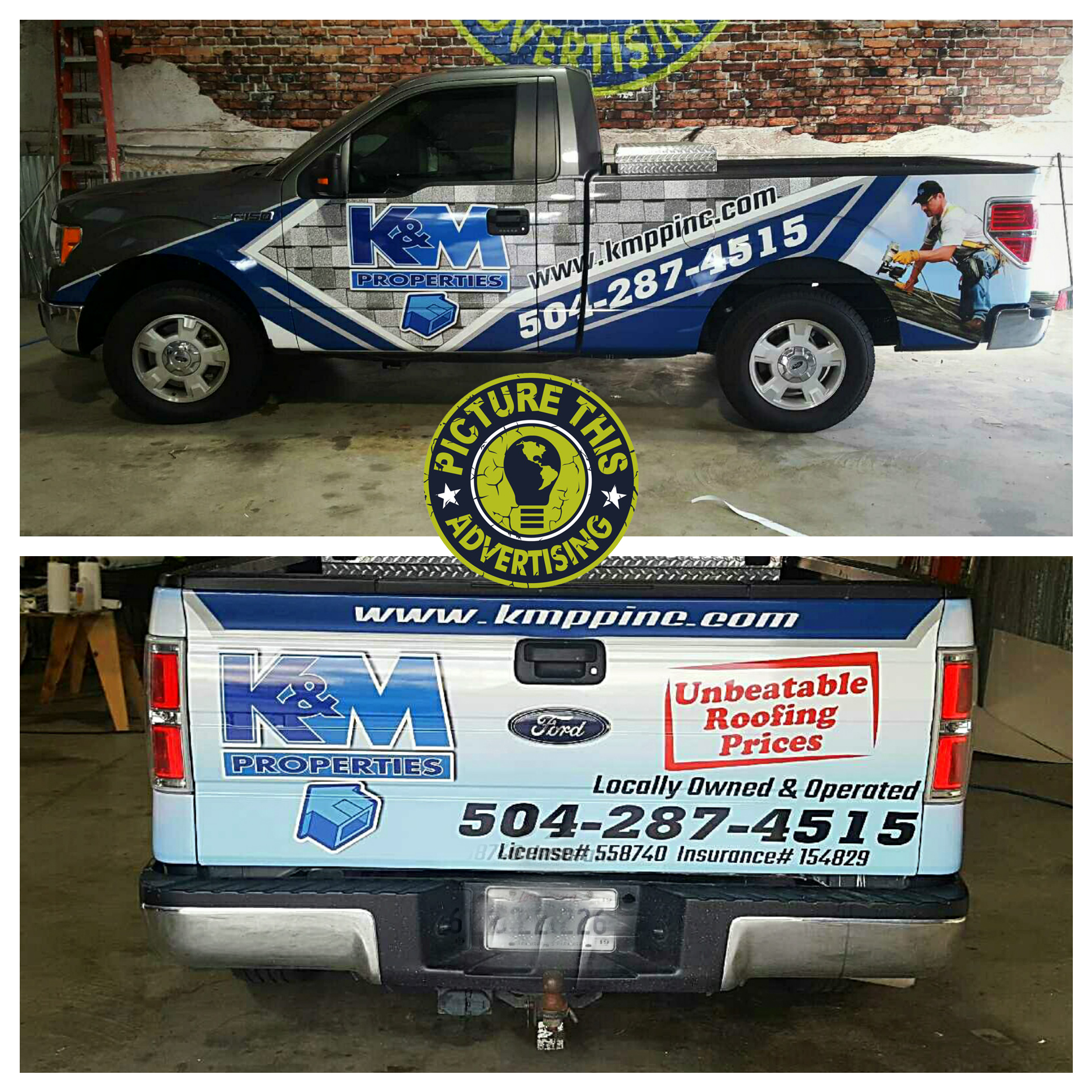 Truck wraps picture this advertising for Department of motor vehicles mandeville la