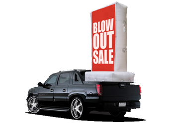 Inflatable Truck Bed Billboards