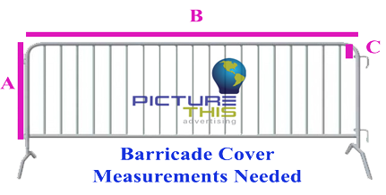 barricade cover measurements