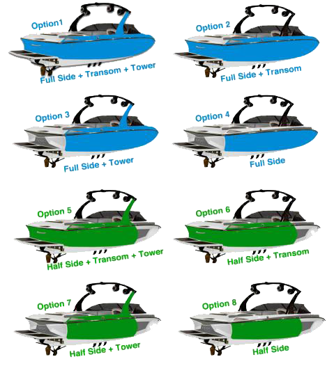 boat wrap options