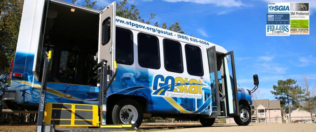 Fleet Vehicle Vinyl Wrap for St Tammany Area Transit