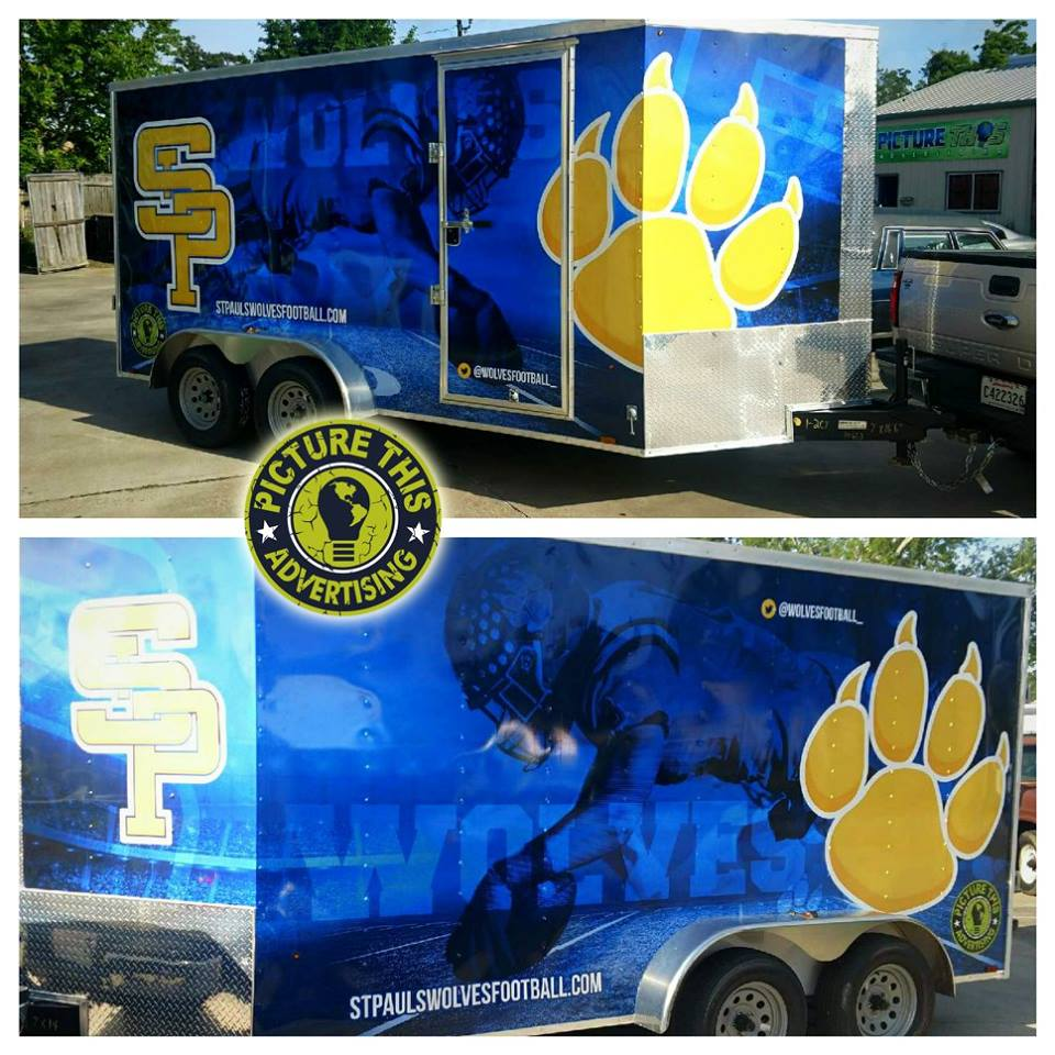 St Paul Football Full Trailer Wrap