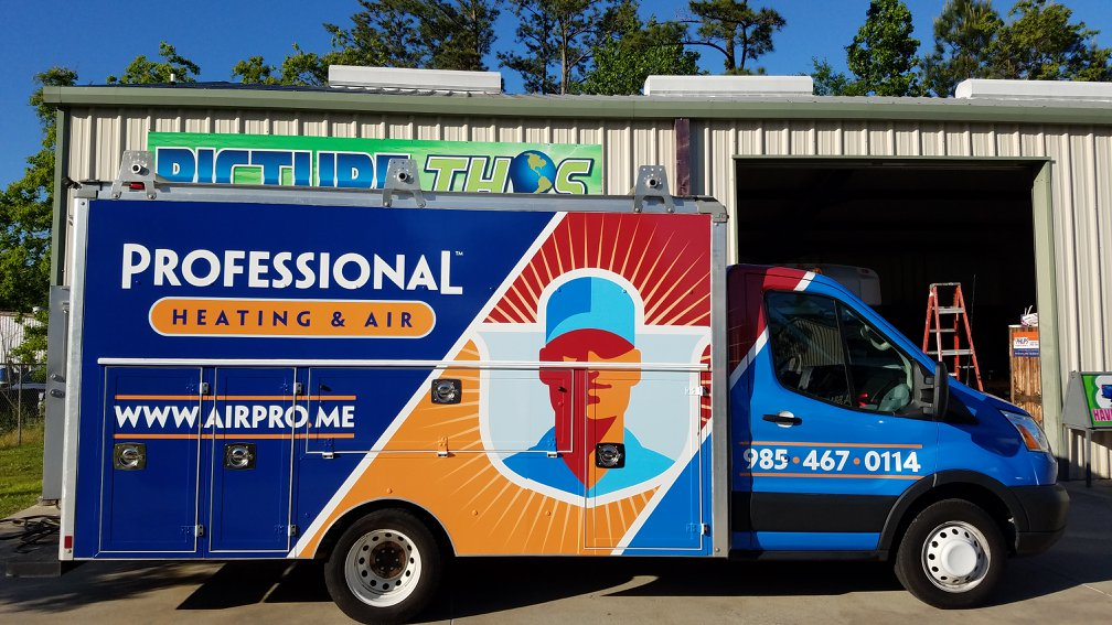 professional heating and air wrap
