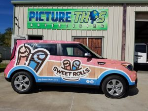 sweet rolls full vehicle wrap